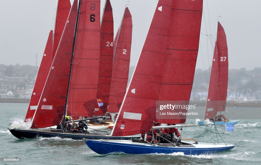 Lendy Cowes Week Sailing Redwings Class preliminary racing on August 2, 2017 in Cowes, England.