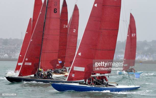 Lendy Cowes Week Sailing Redwings Class preliminary racing on August 2 2017 in Cowes England