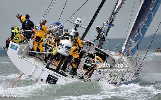 Lendy Cowes Week Sailing Triple Crown Ocean Racers Round The Island Race Team Akzonobel NL on August 2 2017 in Cowes England