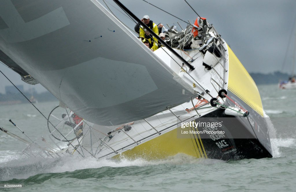 Lendy Cowes Week Sailing Triple Crown Ocean Racers Round The Island Race Team Brunel NL (Bouwe Bekking skipper) on August 2, 2017 in Cowes, England.