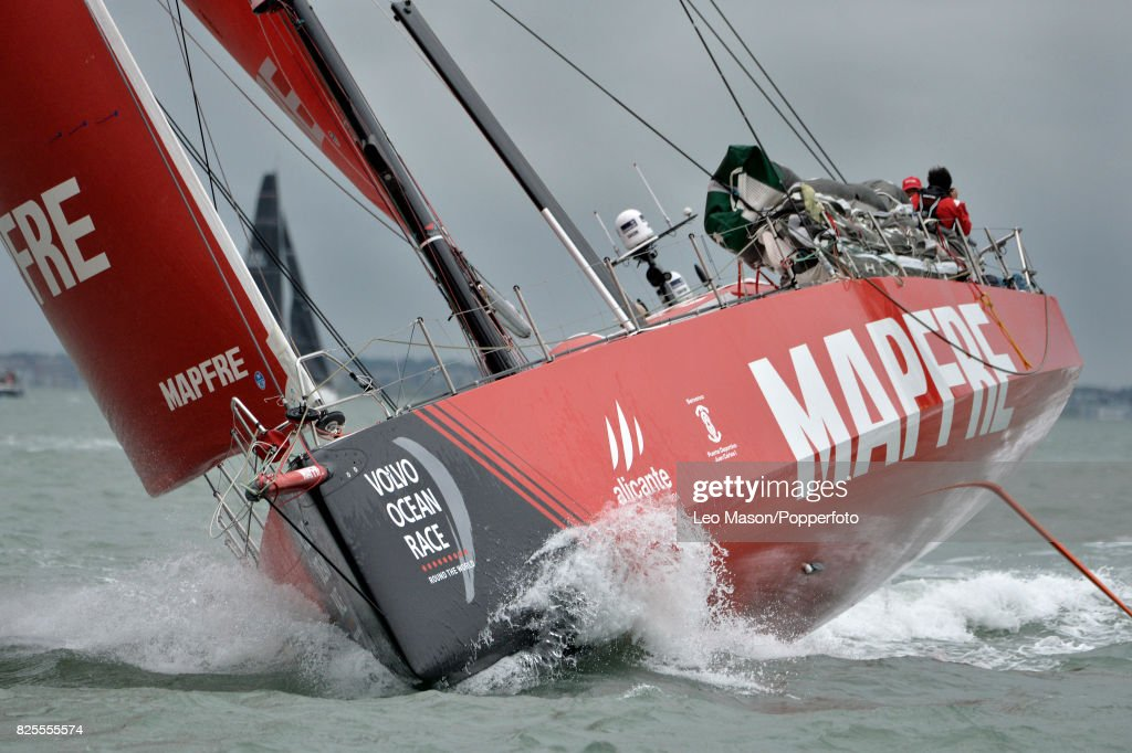 Lendy Cowes Week Sailing Triple Crown Ocean Racers Round The Island Race Mapfre ESP (Xapi Fernandez Skipper)on August 2, 2017 in Cowes, England.