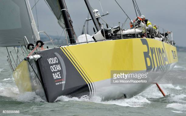 Lendy Cowes Week Sailing Triple Crown Ocean Racers Round The Island Race Team Brunel NL on August 2 2017 in Cowes England