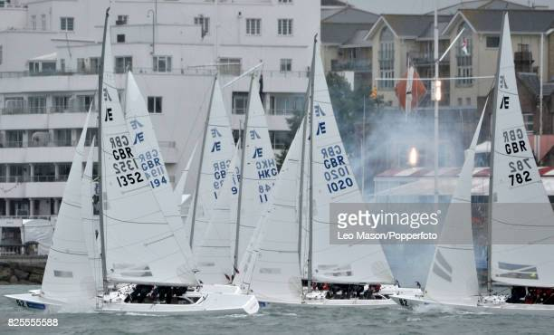 Lendy Cowes Week Sailing Triple Crown Ocean Racers Round The Island Race Mapfre ESP Team Brunel NL Team Akzonobel NL Donfeng Race Team CHN Turn the...