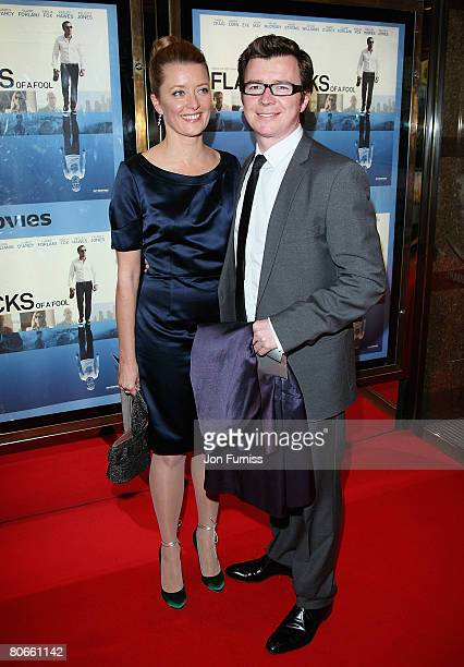 Lene Bausager and Rick Astley attend the Flashbacks Of A Fool film premiere held at the Empire Leicester Square on April 13 2008 in London England