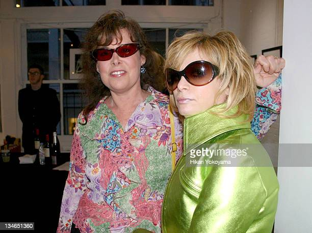 Lene Leigh and Linda Ramone during Bob Gruen Print Sale Benefiting the Joey Ramone Foundation at Morrison Hotel Gallery Loft in New York New York...