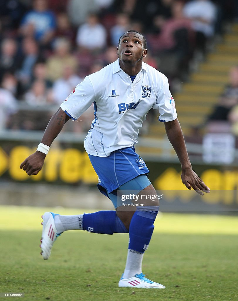 Lenell John-Lewis of Bury in action during the npower League Two League match between Northampton Town and Bury at Sixfields Stadium on April 9, 2011 in Northampton, England.