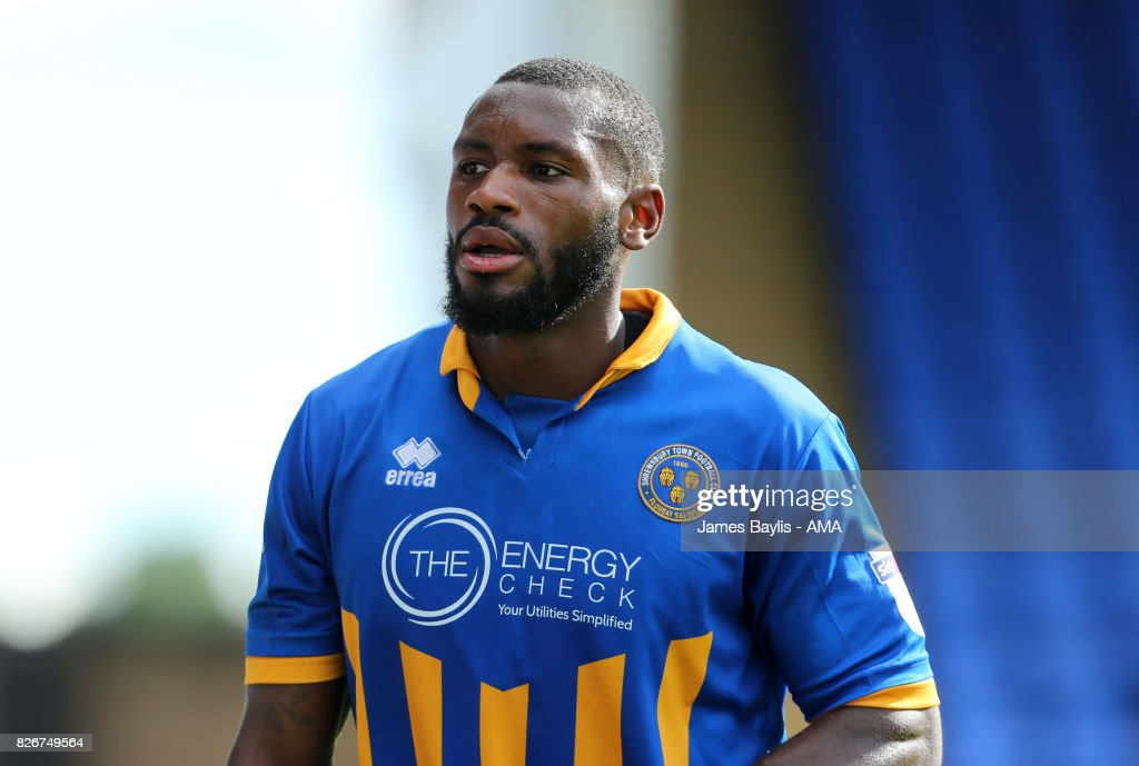 Lenell John-Lewis of Shrewsbury Town during the Sky Bet League One match between Shrewsbury Town and Northampton Town at New Meadow on August 5, 2017 in Shrewsbury, England.
