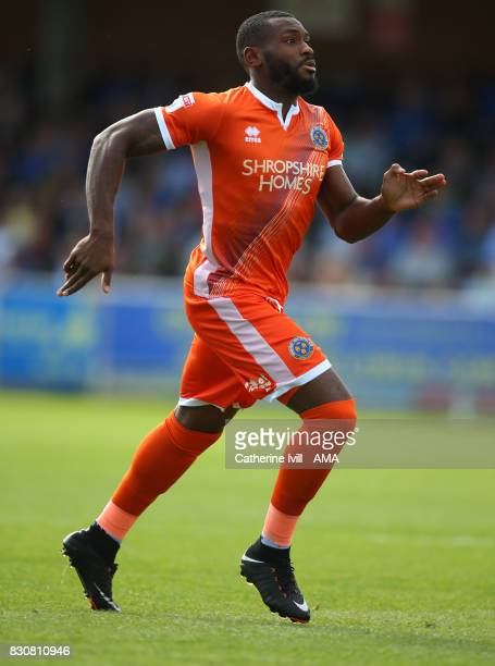 Lenell JohnLewis of Shrewsbury Town during the Sky Bet League One match between AFC Wimbledon and Shrewsbury Town at The Cherry Red Records Stadium...