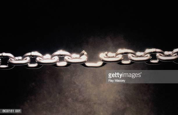 Length of metal chain with broken link