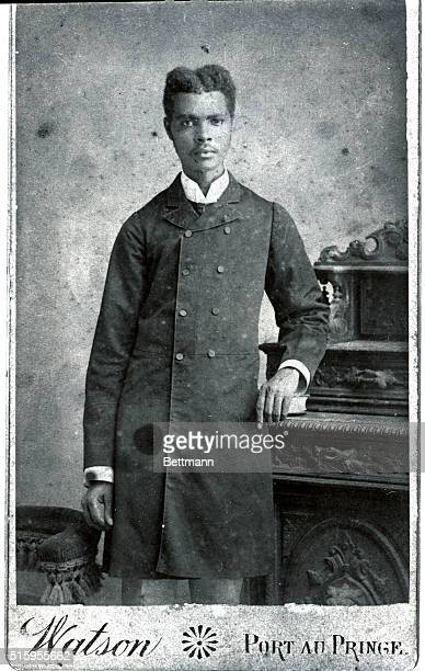3/4 length photograph of a well dressed Negro man ca 1890 Watson Port au Prince Haiti