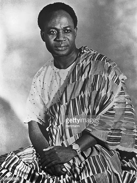 3/4 length photograph shows Dr Kwame Nkrumah Prime Minister of Ghana Undated
