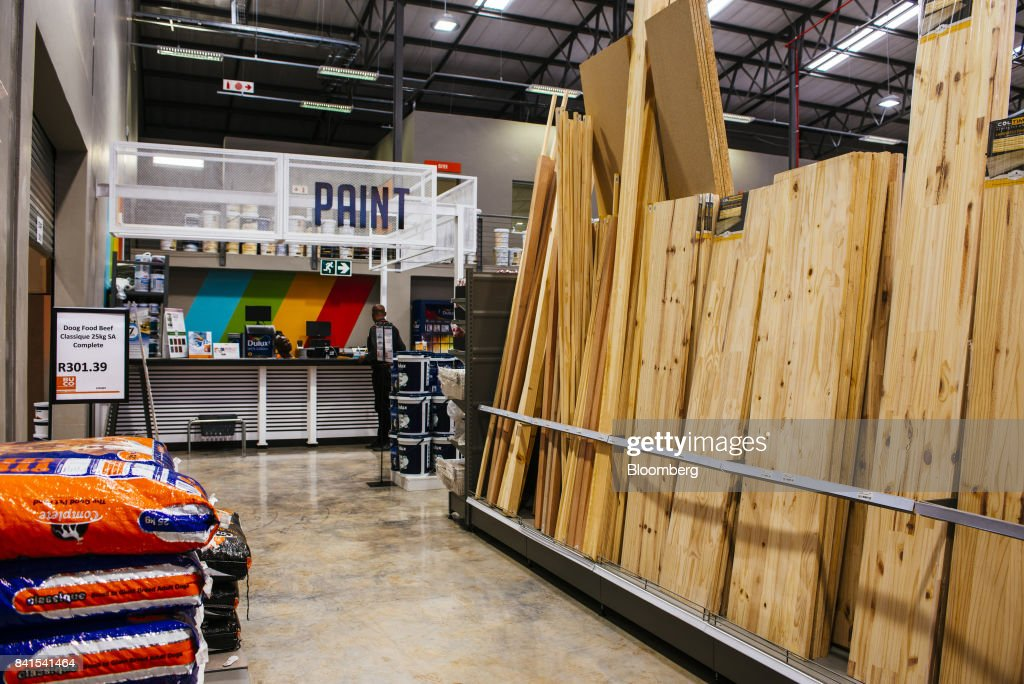 Lengths of cut timber sit on display inside a Timbercity store, operated by Steinhoff International Holdings NV, in Johannesburg, South Africa, on Thursday, Aug. 31, 2017. Steinhoffsaid like-for-like sales rose 8 percent as the South African furniture and clothing retailer achieved gains in its core European and African markets. Photographer: Waldo Swiegers/Bloomberg via Getty Images