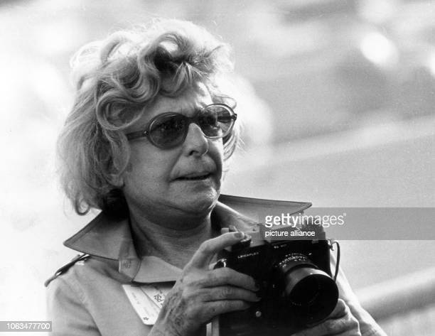 Leni Riefenstahl during the opening ceremony of the Summer Olympics on the 26th ofAugust in 1972 in the Olympiastadion in Munich. The former...