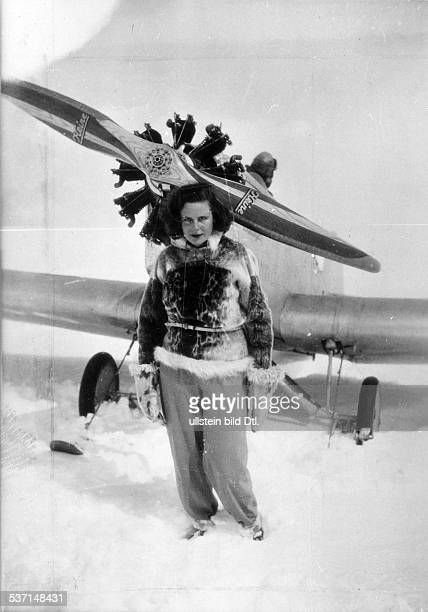 Leni Riefenstahl Leni Riefenstahl Film director and actress, photographer, dancer, Germany Leni Riefenstahl after arriving at the Montblanc glacier -...