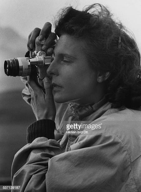 Leni Riefenstahl Leni Riefenstahl Photographer, film director, actress, Germany Riefenstahl at shootings for the film 'Lowlands' published 1940 - 1940