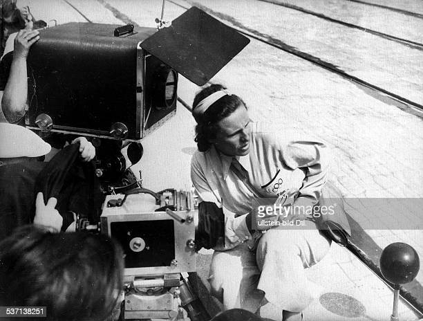 Leni Riefenstahl Leni Riefenstahl Photographer, film director, Germany Leni Riefenstahl at shootings for her film 'Olympia', comprising two parts:...