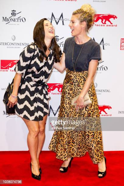 Leni Speidel and Nele Kiper attend the New Faces Award Show 2018 at Sammlung Philara on August 29 2018 in Duesseldorf Germany