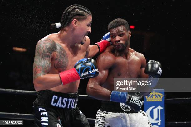 Lenin Castillo lands a left hand against Marcus Browne Browne would win by unanimous decision at the Nassau Veterans Memorial Coliseum on August 4...