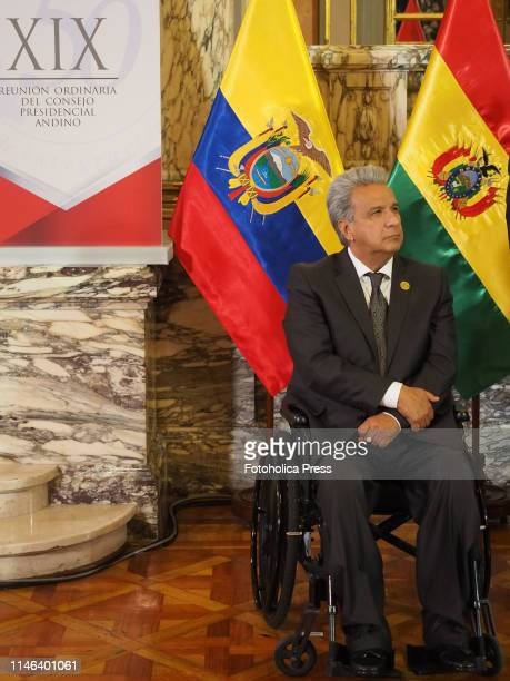 Lenin Moreno, President of Ecuador at the 19th Andean Presidential Council and commemoration of the 50 years of the Andean Community, whose pro...