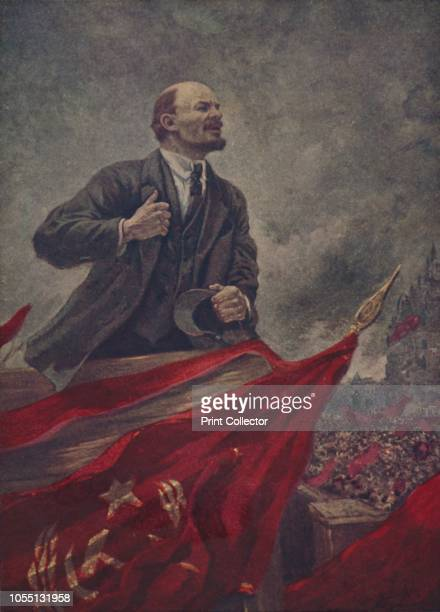 Lenin Portrait of Russian communist revolutionary Vladimir Ilich Lenin Lenin was the first Soviet head of state prime minister of the USSR and...