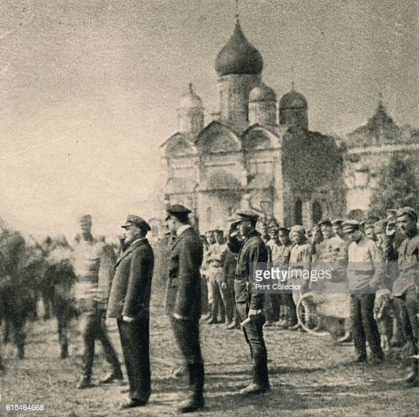 Lenin reviews the 11th group of graduates of the First Moscow Soviet MachineGun Commander School in the Kremlin Moscow May 12' 1920 From by [ London...