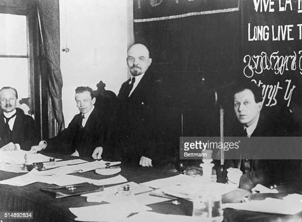 Lenin sitting in the Presidium of the First Congress of the Communist International in March 1919 In March 1919 the First Congress of the Communist...