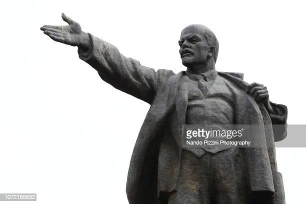 lenin statue - former soviet union stock pictures, royalty-free photos & images