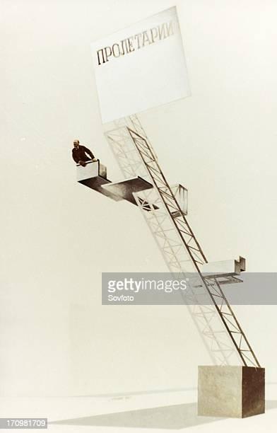 Lenin tribune' architectural design by el lissitzky prouns suprematism futurism