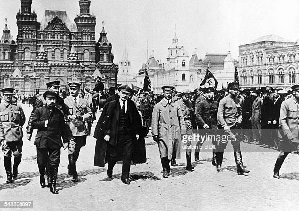 Lenin Vladimir Ilyich Politician UdSSR *22041870 Lenin inspecting troops in Moscow's Red Square 1919 Vintage property of ullstein bild