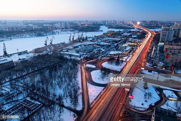 Leningrad highway in Moscow