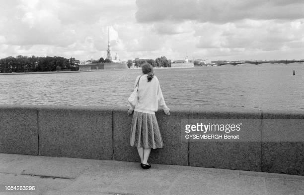 Leningrad URSS août 1990 Grâce à son maire Anatoli Sobtchak Leningrad la deuxième ville de l'Union soviétique va redevenir SaintPétersbourg qu'il...