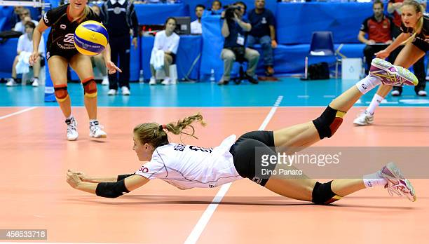 Lenka Drr of Germany makes a save during the FIVB Women's World Championship pool E match between Germany and Japan on October 2 2014 in Trieste Italy