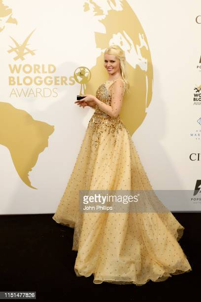 Lenka Josefiova attends theInaugural 'World Bloggers Awards' during the 72nd annual Cannes Film Festival on May 24, 2019 in Cannes, France. The...