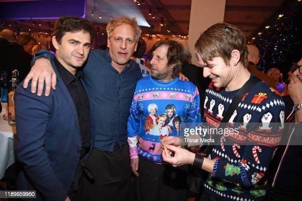 """Lenn Kudrjawizki, Kai Lentrodt, Oliver Korittke, Tobias Schenke during """"25 Jahre Weihnachten mit Frank Zander"""" at Estrel Convention Center on..."""