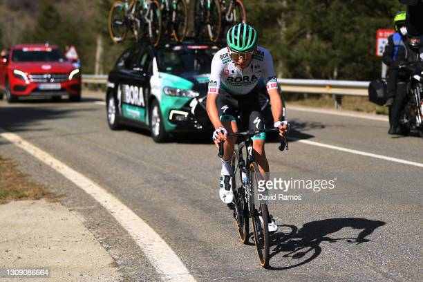 Lennard Kämna of Germany and Team BORA - Hansgrohe during the 100th Volta Ciclista a Catalunya 2021, Stage 4 a 166,5km stage from Ripoll to Port Ainé...