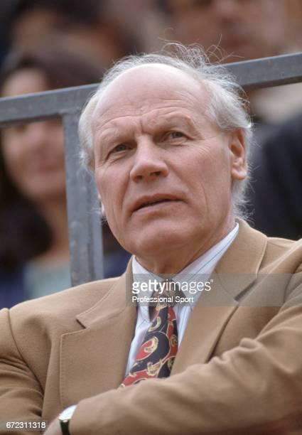 Lennart Bergelin tennis coach of Bjorn Borg at the Monte Carlo Open Tennis Tournament in RoquebruneCapMartin France circa April 1991