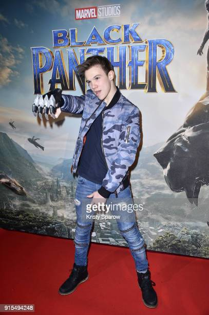 Lenni Kim attends the 'Black Panther' Paris Special Screening at Le Grand Rex on February 7 2018 in Paris France