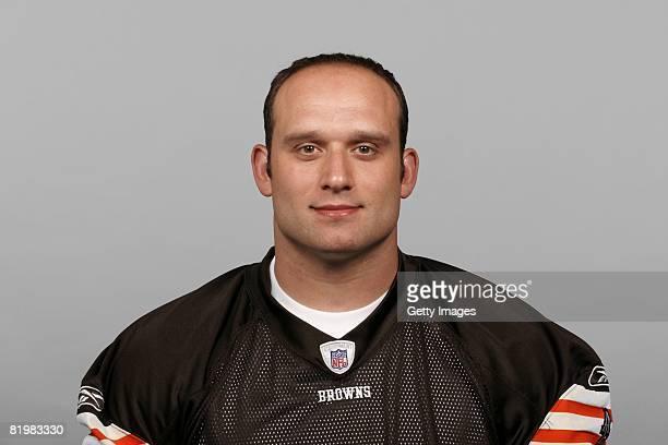 Lennie Friedman of the Cleveland Browns poses for his 2008 NFL headshot at photo day in Cleveland Ohio