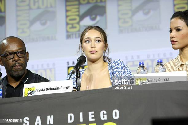 Lennie James, Alycia Debnam-Carey and Danay Garcia attend the Fear the Walking Dead Panel at Comic Con 2019 on July 19, 2019 in San Diego, California.