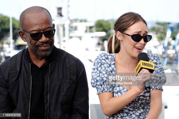 Lennie James and Alycia Debnam-Carey speak onstage at the #IMDboat at San Diego Comic-Con 2019: Day Two at the IMDb Yacht on July 19, 2019 in San...