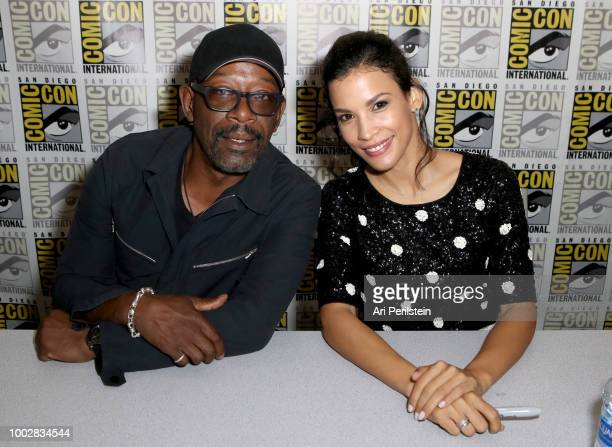 Lennie James and Danay Garcia attend the 'Fear the Walking Dead' autograph signing with AMC during ComicCon International 2018 at San Diego...