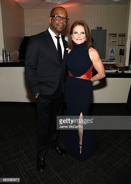 Lennie James and Tovah Feldshuh attend AMC's 'The Walking Dead' Season 6 Fan Premiere Event 2015 at Madison Square Garden on October 9 2015 in New...