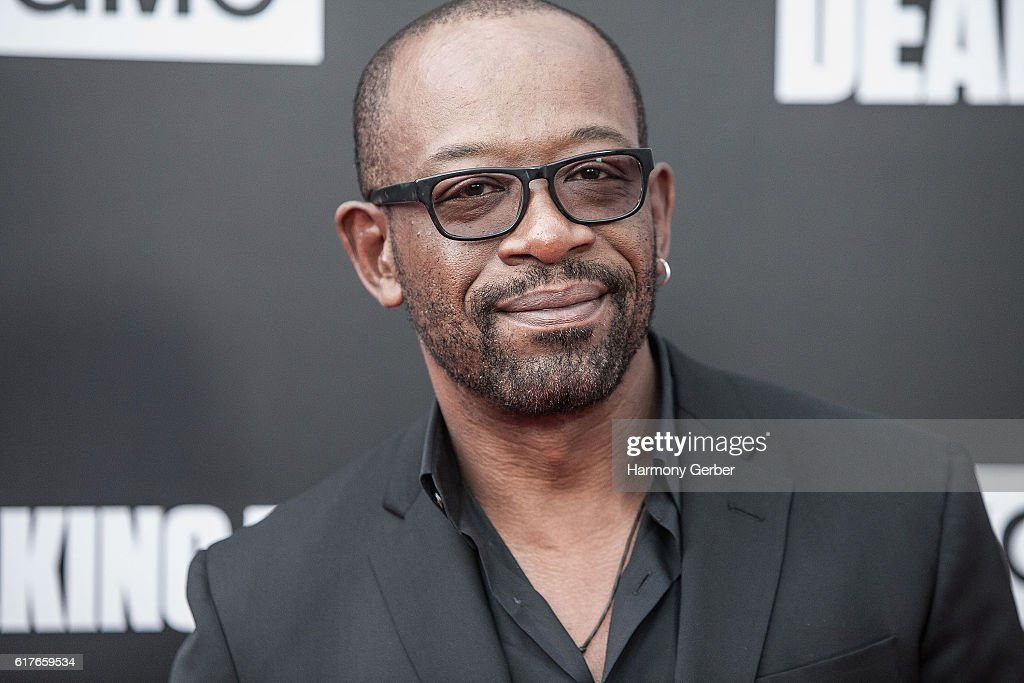 Lennie James arrives at AMC presents live, 90-minute special edition of 'Talking Dead' at Hollywood Forever on October 23, 2016 in Hollywood, California.