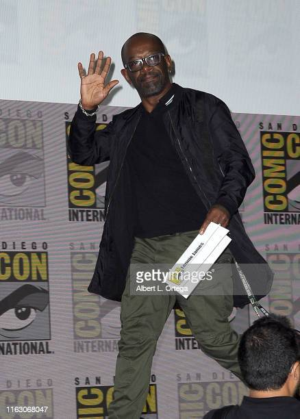 """Lennie James attends the """"Fear The Walking Dead"""" Panel during 2019 Comic-Con International at San Diego Convention Center on July 19, 2019 in San..."""
