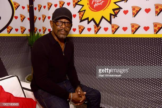 Lennie James from the show 'Fear The Walking Dead' attend the Pizza Hut Lounge at 2018 ComicCon International San Diego at Andaz San Diego on July 19...