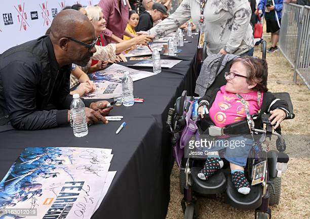 Lennie James meets fans at AMC's Deadquarters at Comic Con 2019 on July 19, 2019 in San Diego, California.