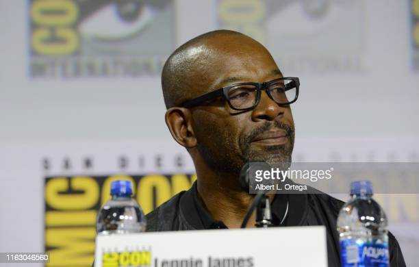 """Lennie James speaks at the """"Fear The Walking Dead"""" Panel during 2019 Comic-Con International at San Diego Convention Center on July 19, 2019 in San..."""