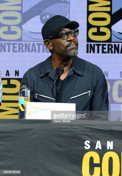 Andrew Chambliss and Ian Goldberg speak onstage at AMC's 'Fear The Walking Dead' panel during ComicCon International 2018 at San Diego Convention...