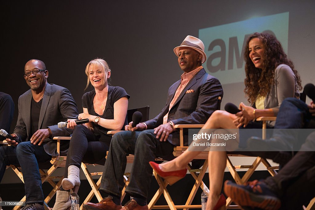 Lennie James, Sprague Grayden, Ruben Santiago-Hudson and Athena Karkanis attend AMC's 'Low Winter Sun' cast Q&A with Art House Convergence on July 29, 2013 in Ann Arbor, Michigan.