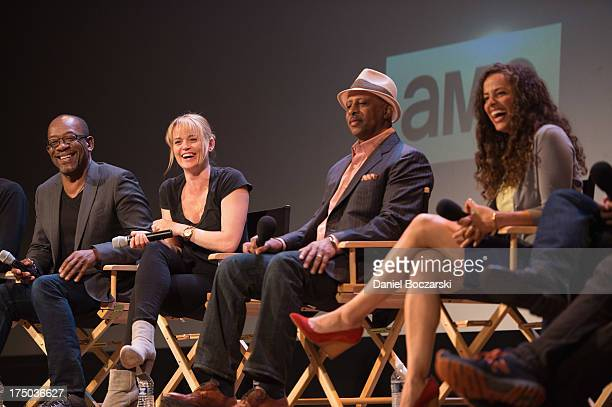 Lennie James Sprague Grayden Ruben SantiagoHudson and Athena Karkanis attend AMC's Low Winter Sun cast QA with Art House Convergence on July 29 2013...